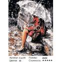 Мелодия дождя Раскраска картина по номерам на холсте Iteso