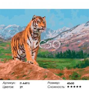 Количество цветов и сложность Защитник Раскраска ( картина ) по номерам акриловыми красками на холсте Iteso