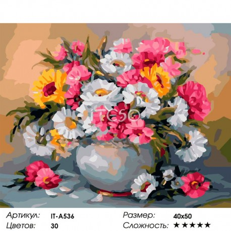 Количество цветов и сложность Летняя соната Раскраска картина по номерам акриловыми красками на холсте Iteso