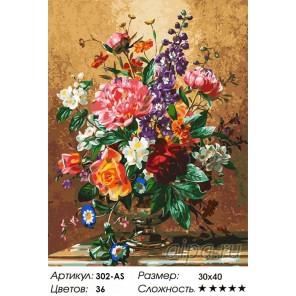 Количество цветов и сложность Роскошный букет Раскраска картина по номерам акриловыми красками на холсте Белоснежка