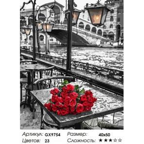 Количество цветов и сложность У моста Риальто (художник Ассаф Франк) Раскраска картина по номерам акриловыми красками на холсте