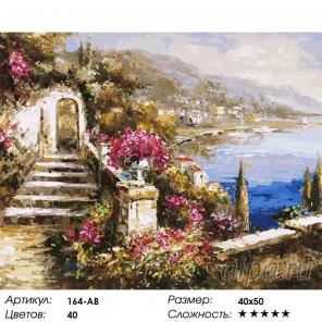 Количество цветов и сложность Вид на море Раскраска картина по номерам акриловыми красками на холсте Белоснежка