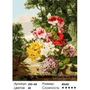 Количество цветов и сложность Цветы в корзинке Раскраска картина по номерам акриловыми красками на холсте Белоснежка