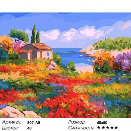 Количество цветов и сложность Солнечный Прованс Раскраска картина по номерам акриловыми красками на холсте Белоснежка