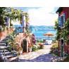 Тосканская терасса Раскраска картина по номерам акриловыми красками на холсте