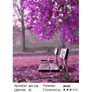 Количество цветов и сложность Сиреневый вечер Раскраска ( картина ) по номерам акриловыми красками на холсте Белоснежка
