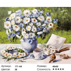 171-AB Ромашковое настроение Раскраска картина по номерам акриловыми красками на холсте Белоснежка