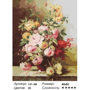Букет Элегия Раскраска ( картина ) по номерам акриловыми красками на холсте Белоснежка