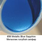 656 Голубой сапфир Металлик Акриловая краска FolkArt Plaid