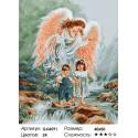 Количество цветов и сложность Путеводный ангел Раскраска картина по номерам акриловыми красками на холсте