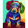 Радужный щенок Раскраска картина по номерам акриловыми красками на холсте