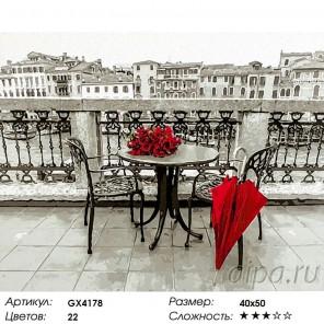 Красный зонт Раскраска картина по номерам на холсте