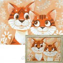Кошачья нежность Алмазная вышивка мозаика Гранни
