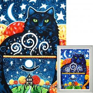 Таинственный кот Алмазная вышивка мозаика Гранни