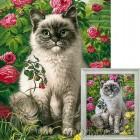 Кот и лето Алмазная вышивка мозаика Гранни