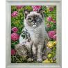 Готовая картина Кот и лето Алмазная вышивка мозаика Гранни