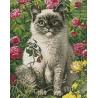 Раскладка Кот и лето Алмазная вышивка мозаика Гранни