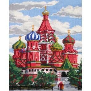 Собор Василия Блаженного Алмазная мозаика вышивка на подрамнике Painting Diamond