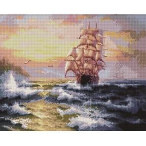Неспокойное море Алмазная мозаика вышивка на подрамнике Painting Diamond