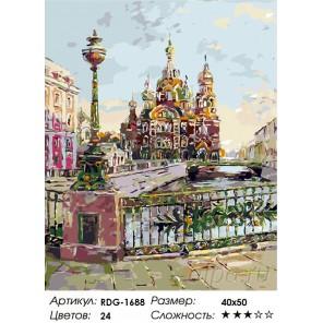 Количество цветов и сложность Театральный мост. Санкт-Петербург Раскраска картина по номерам акриловыми красками на холсте