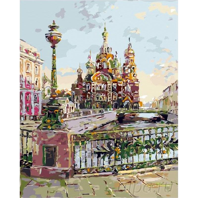 Раскраска по номерам Театральный мост. Санкт-петербург ...