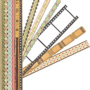 Отрежь и приклей Ленты бумажные для скрапбукинга, кардмейкинга K&Company