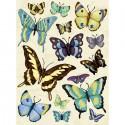 Бабочки голубые Стикеры для скрапбукинга, кардмейкинга K&Company