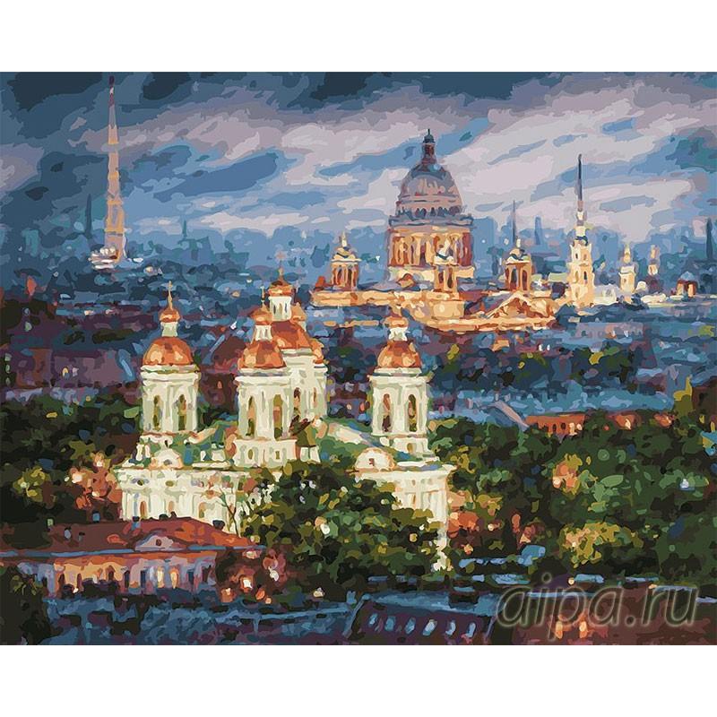 Раскраска по номерам Все краски вечера. Санкт-Петербург ...