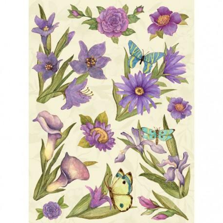 Цветы пурпурные Стикеры для скрапбукинга, кардмейкинга K&Company