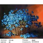 Количество цветов и сложность Васильки Раскраска ( картина ) по номерам акриловыми красками на холсте Белоснежка