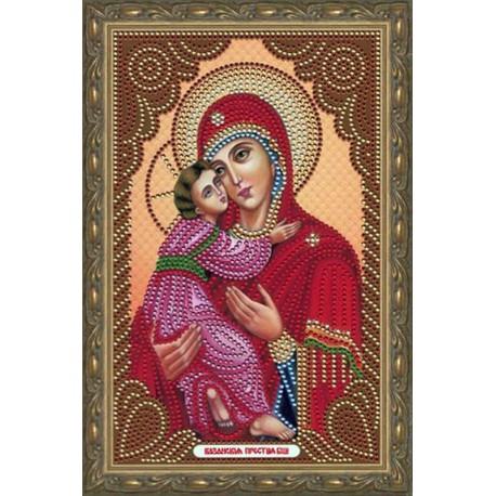 В рамке Владимирская Богородица Алмазная мозаика вышивка Painting Diamond