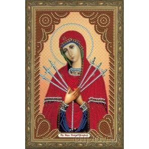 В рамке Семистрельная Богородица Алмазная мозаика вышивка Painting Diamond