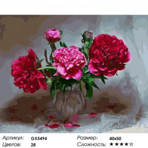 Количество цветов и сложность Цветы в тени Раскраска картина по номерам акриловыми красками на холсте