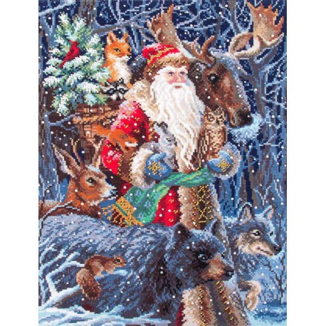 Снежный король Набор для вышивания бисер-нитки Матренин Посад