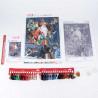 Состав набора Снежный король Набор для вышивания бисер-нитки Матренин Посад