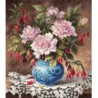 Розы и фуксии Набор для вышивания Чудесная игла