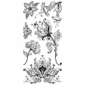 Цветы дизайнерские Штампы прозрачные Набор для скрапбукинга, кардмейкинга Inkadinkado