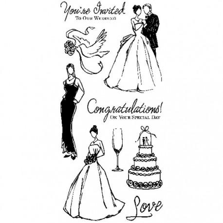 Свадьба Штампы прозрачные Набор для скрапбукинга, кардмейкинга Inkadinkado