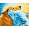 Притяжение голубой и рыжей собак Раскраска картина по номерам акриловыми красками на холсте