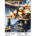 Веселье лабрадоров Раскраска картина по номерам на холсте
