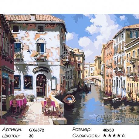 Количество цветов и сложность Венецианские цвета Раскраска картина по номерам акриловыми красками на холсте
