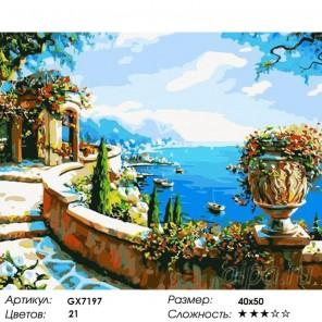 Количество цветов и сложность Ротонда у моря Раскраска картина по номерам акриловыми красками на холсте