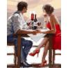 Закат в валентинов день Раскраска картина по номерам акриловыми красками на холсте