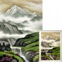 Горный туман Алмазная вышивка мозаика Гранни