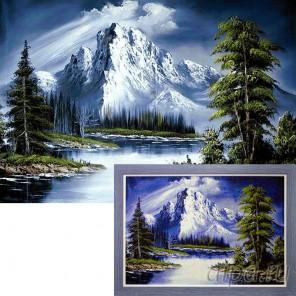 Горное озеро Алмазная вышивка мозаика Гранни