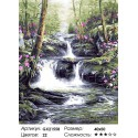 Лесной каскад Раскраска картина по номерам на холсте