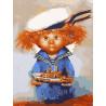Домовёнок-морячок Раскраска картина по номерам акриловыми красками на холсте