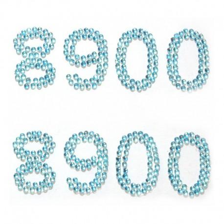 8900 голубые Набор самоклеющихся страз Glorex