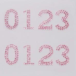 0123 розовые цифры Набор самоклеющихся страз Glorex