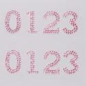 0123 розовые Набор самоклеющихся страз Glorex
